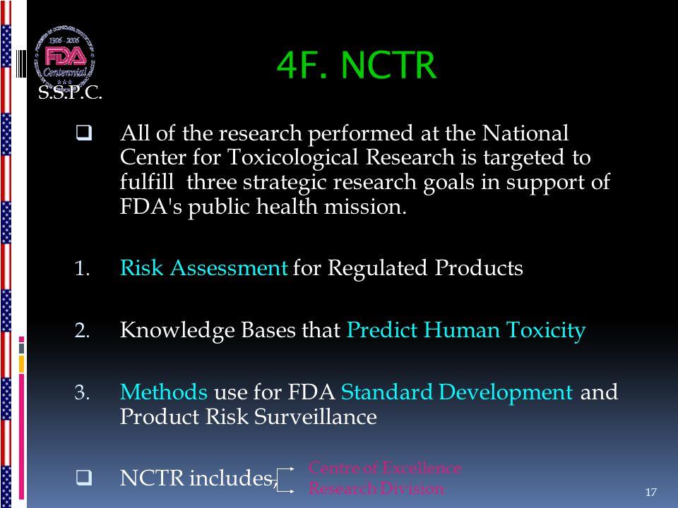 S.S.P.C. 4F. NCTR.