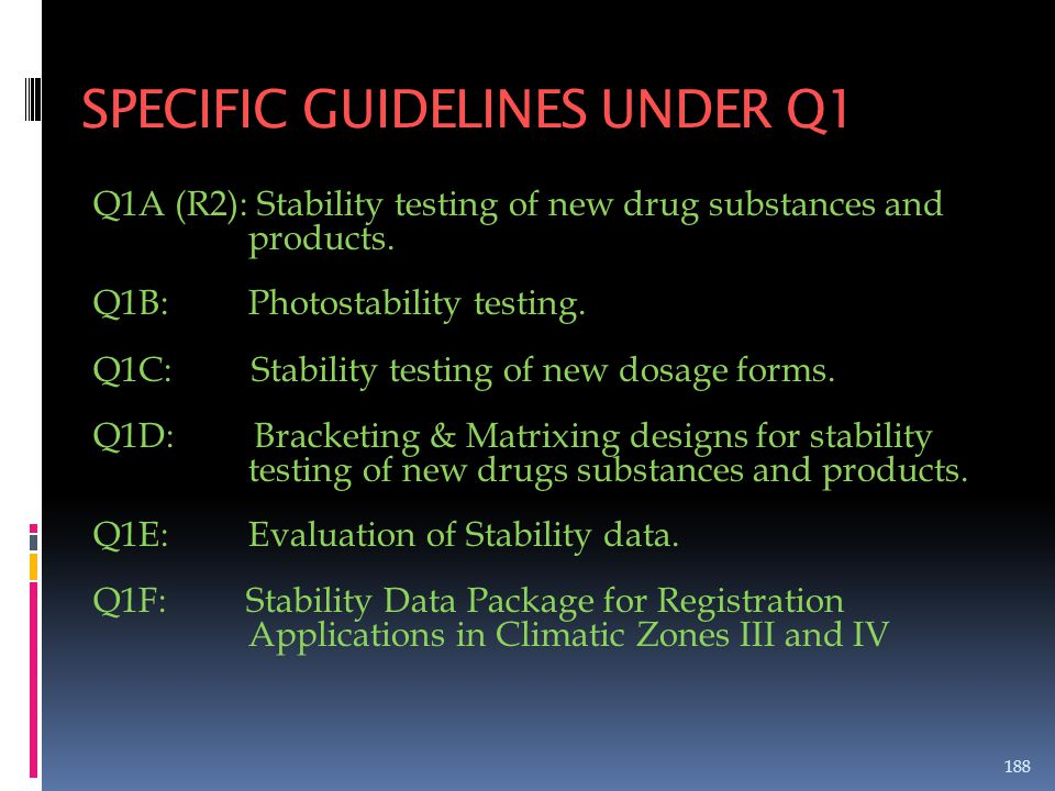 SPECIFIC GUIDELINES UNDER Q1