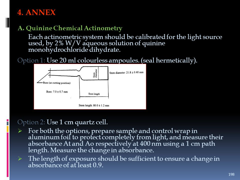 4. ANNEX A. Quinine Chemical Actinometry
