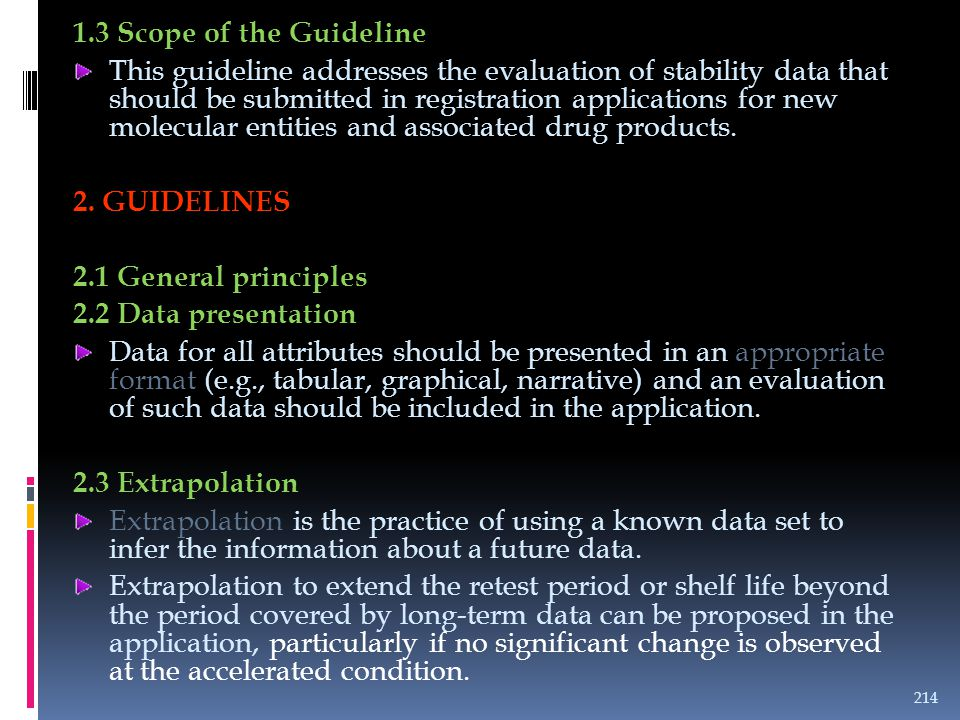 1.3 Scope of the Guideline