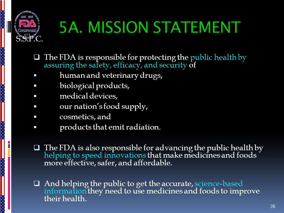 5A. MISSION STATEMENT S.S.P.C.