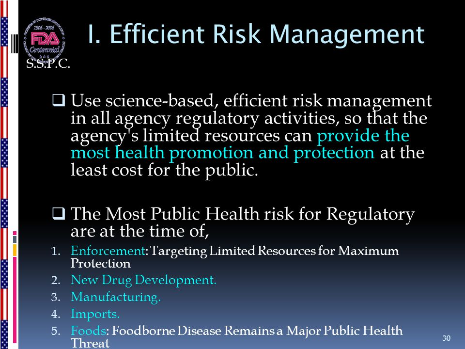 I. Efficient Risk Management