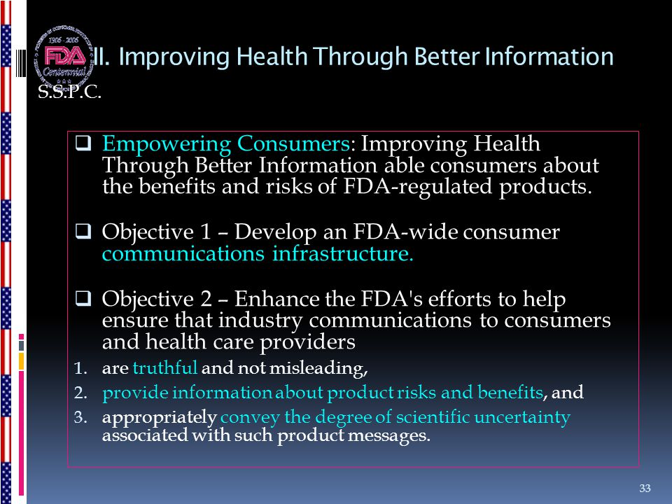 II. Improving Health Through Better Information