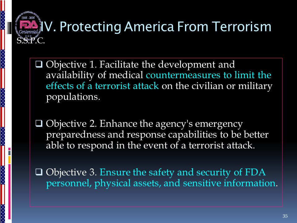 IV. Protecting America From Terrorism