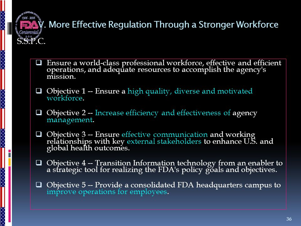 V. More Effective Regulation Through a Stronger Workforce