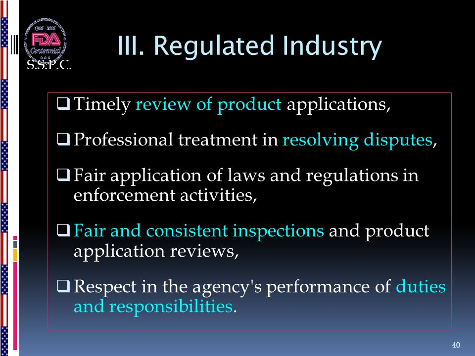 III. Regulated Industry