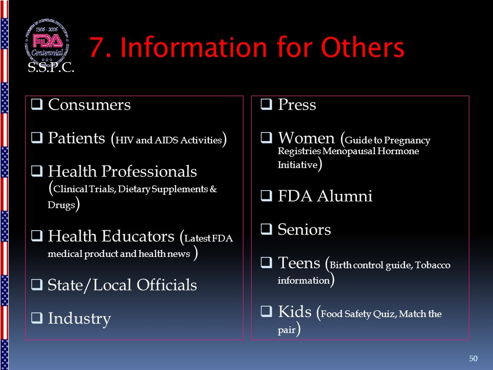7. Information for Others