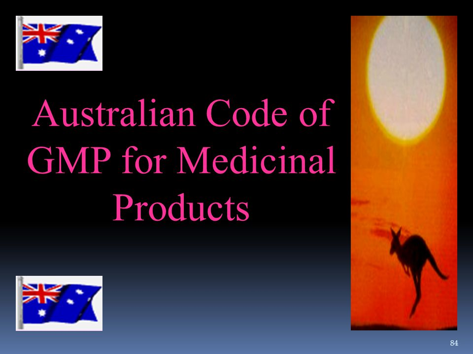 Australian Code of GMP for Medicinal Products