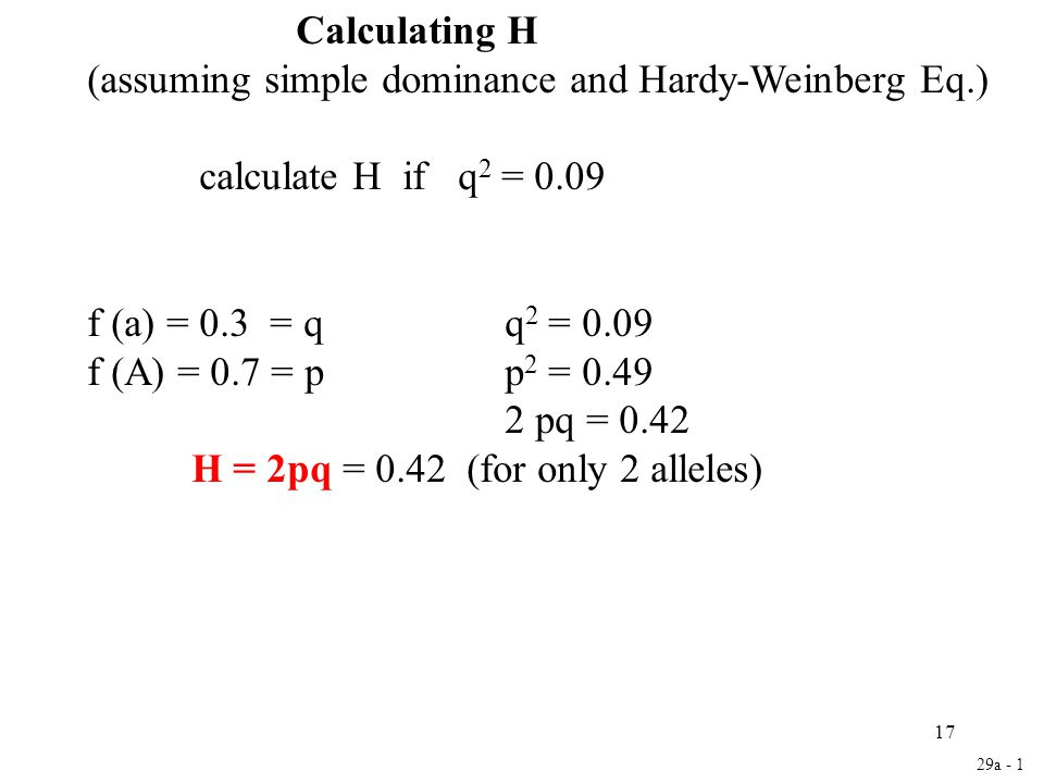 (assuming simple dominance and Hardy-Weinberg Eq.)