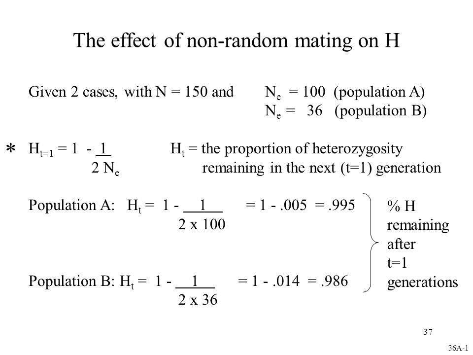 The effect of non-random mating on H