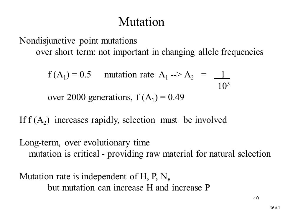 Mutation Nondisjunctive point mutations