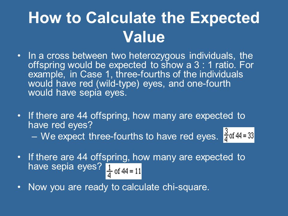 How to Calculate the Expected Value