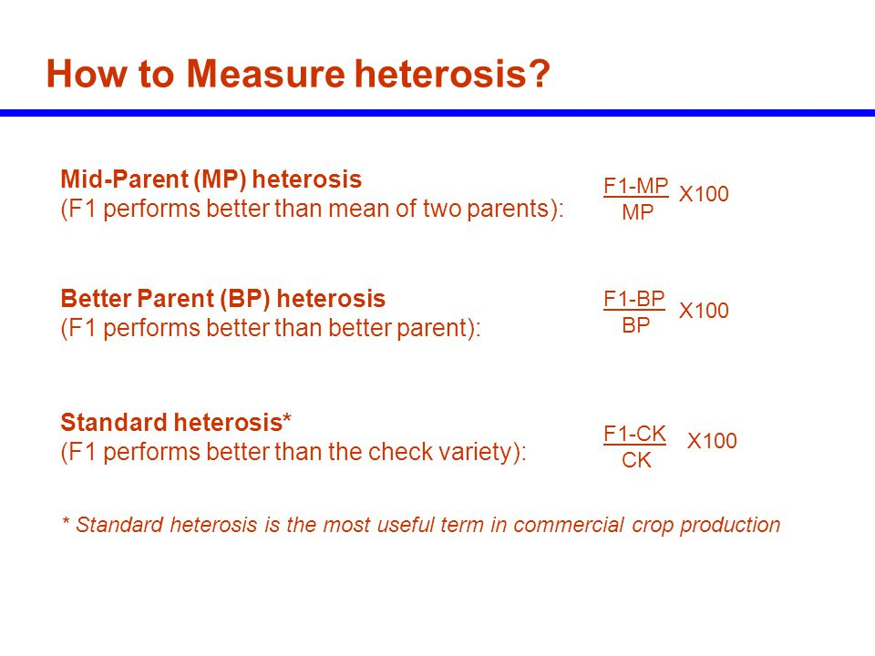 How to Measure heterosis