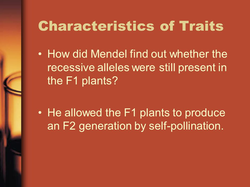 Characteristics of Traits