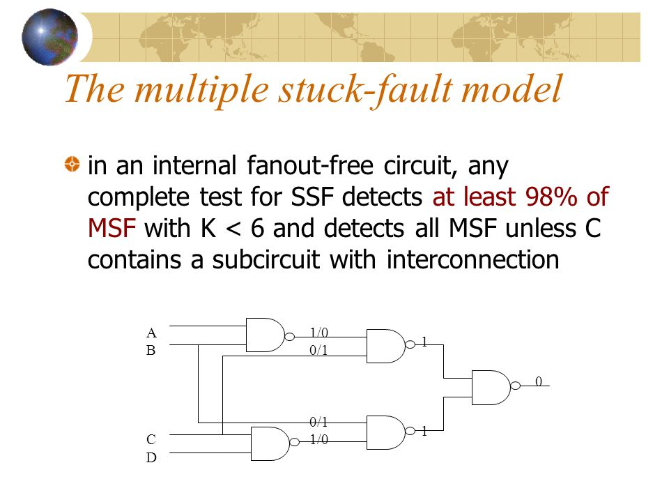 The multiple stuck-fault model