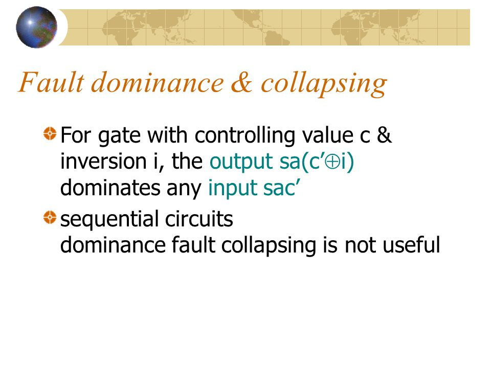 Fault dominance & collapsing
