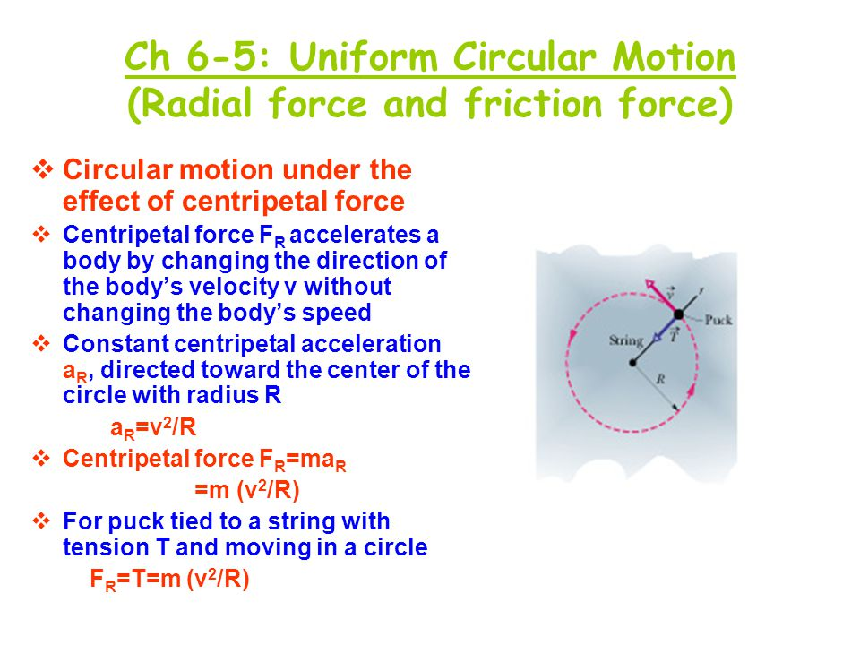 Ch 6-5: Uniform Circular Motion (Radial force and friction force)