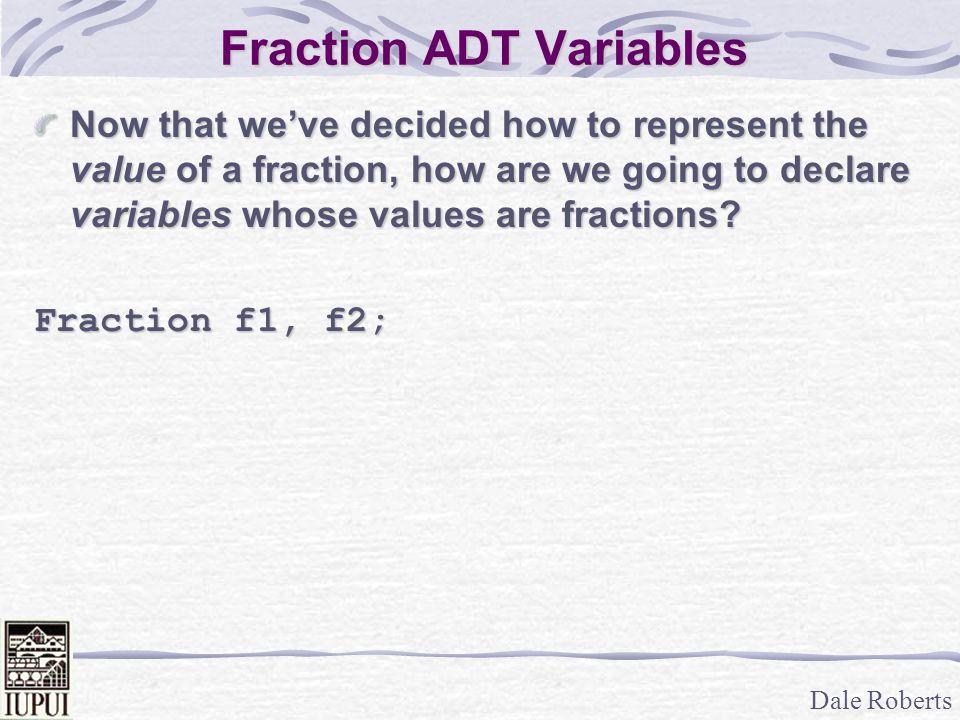 Fraction ADT Variables