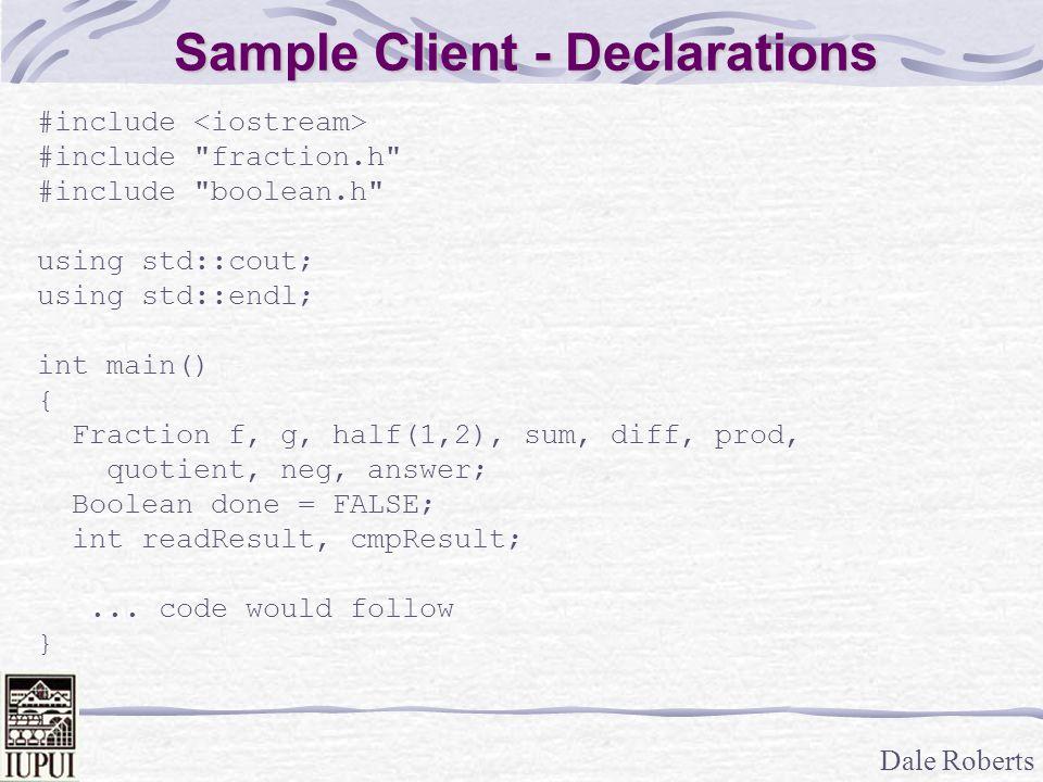 Sample Client - Declarations