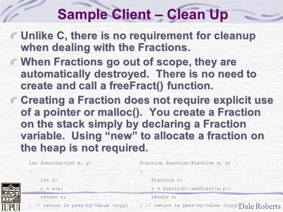 Sample Client – Clean Up