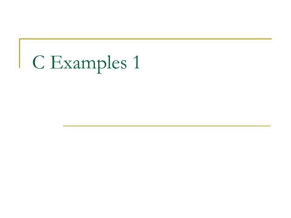 C Examples 1
