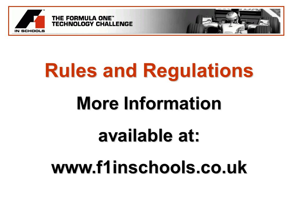 Rules and Regulations More Information available at: