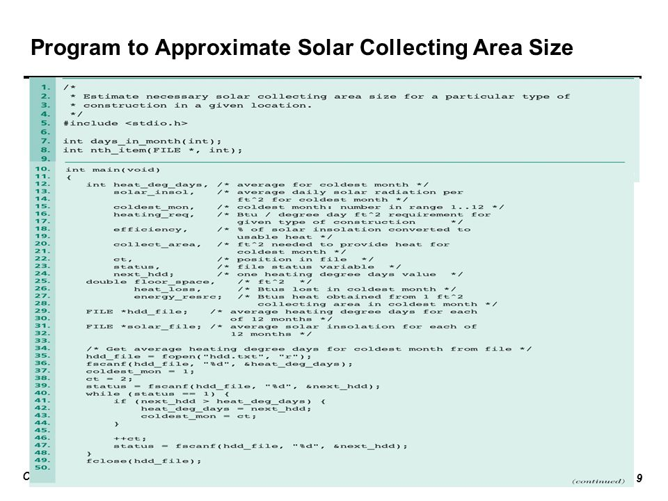 Program to Approximate Solar Collecting Area Size
