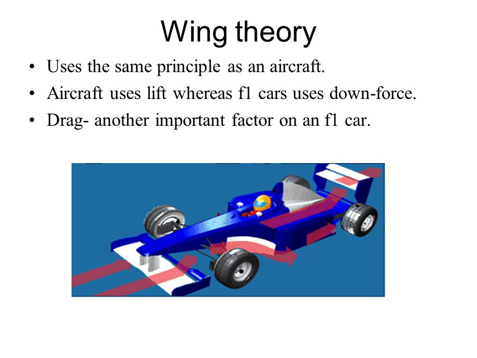 Wing theory Uses the same principle as an aircraft.