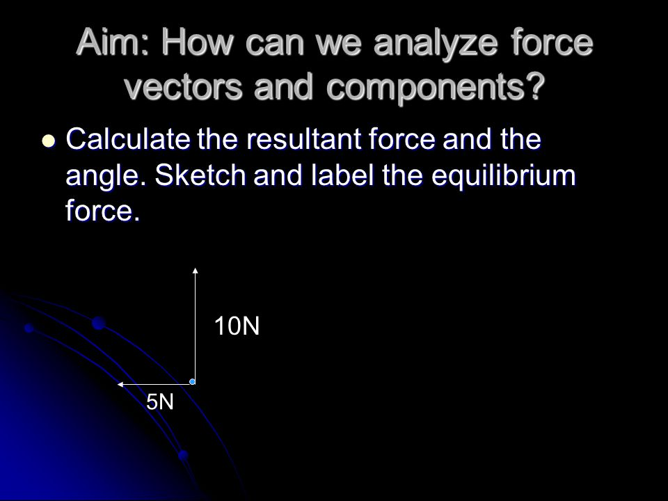 Aim: How can we analyze force vectors and components