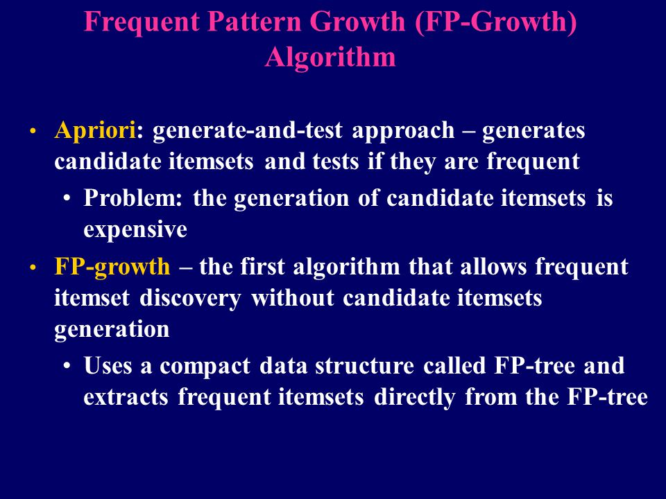 Frequent Pattern Growth (FP-Growth) Algorithm