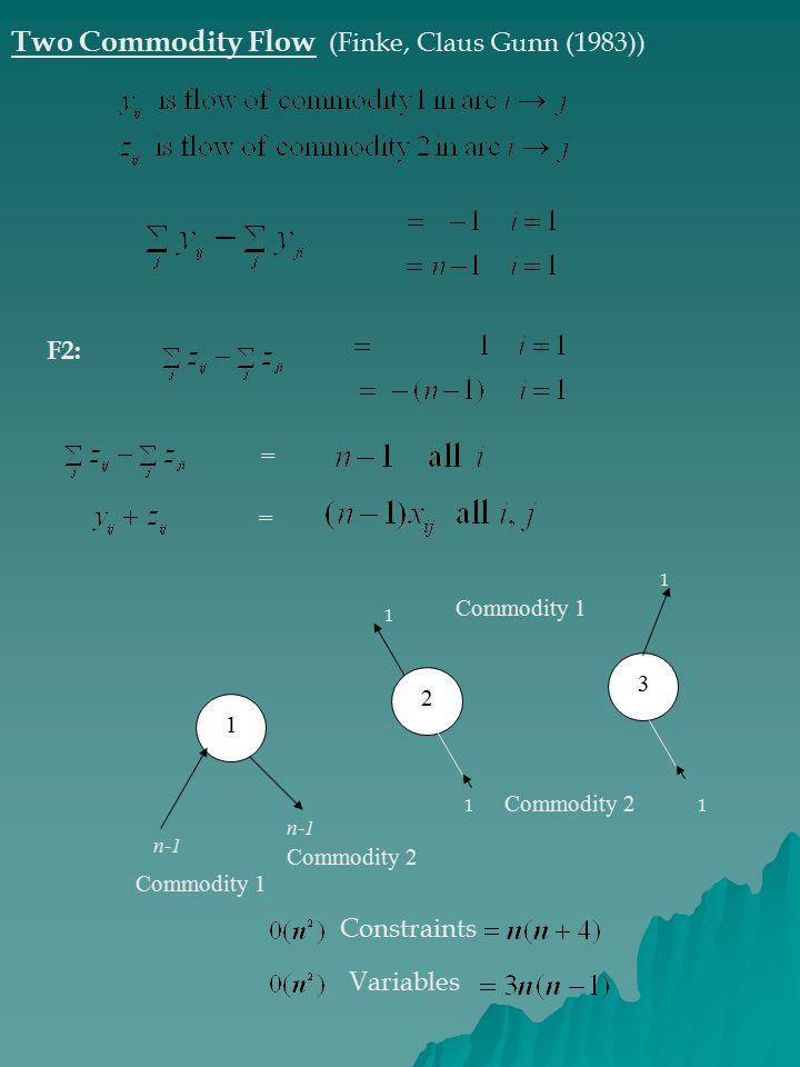 Two Commodity Flow (Finke, Claus Gunn (1983))