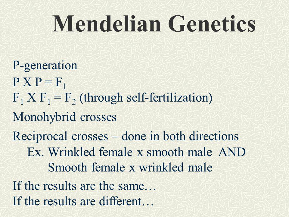 Mendelian Genetics P-generation