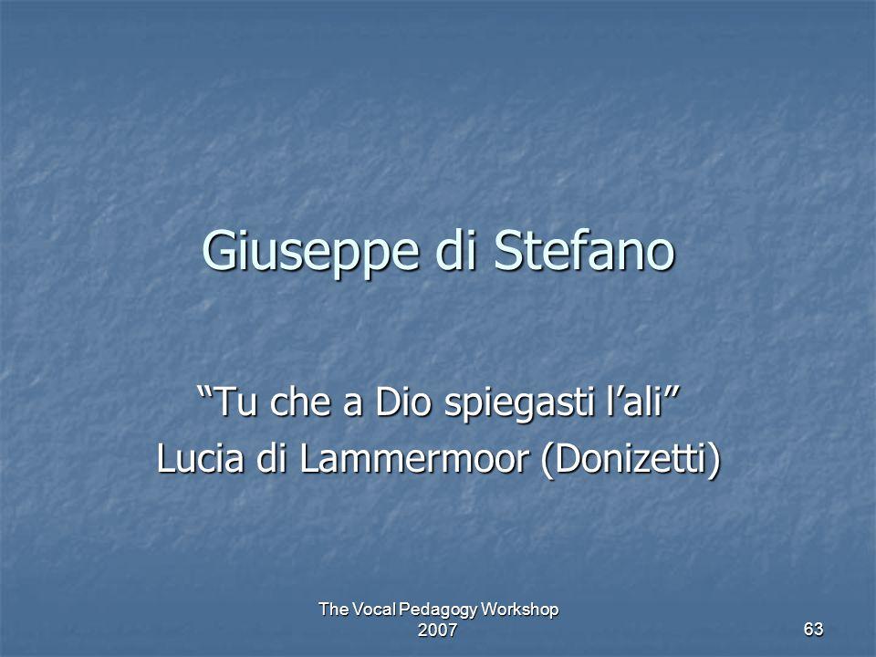 Tu che a Dio spiegasti l'ali Lucia di Lammermoor (Donizetti)
