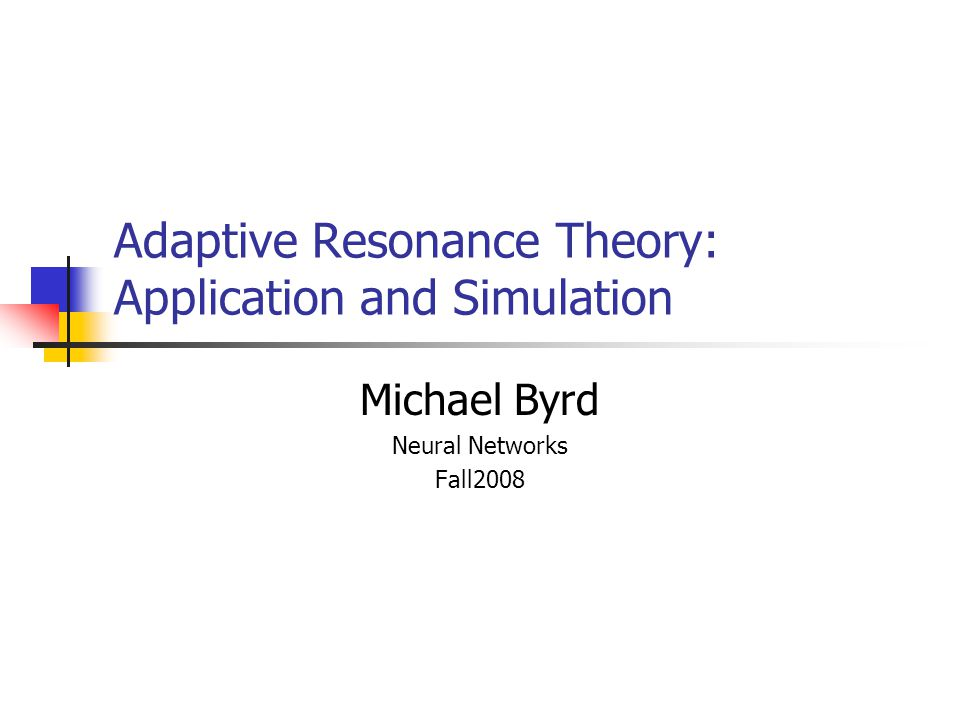 Adaptive Resonance Theory: Application and Simulation