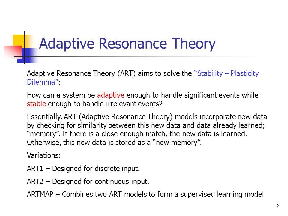 Adaptive Resonance Theory