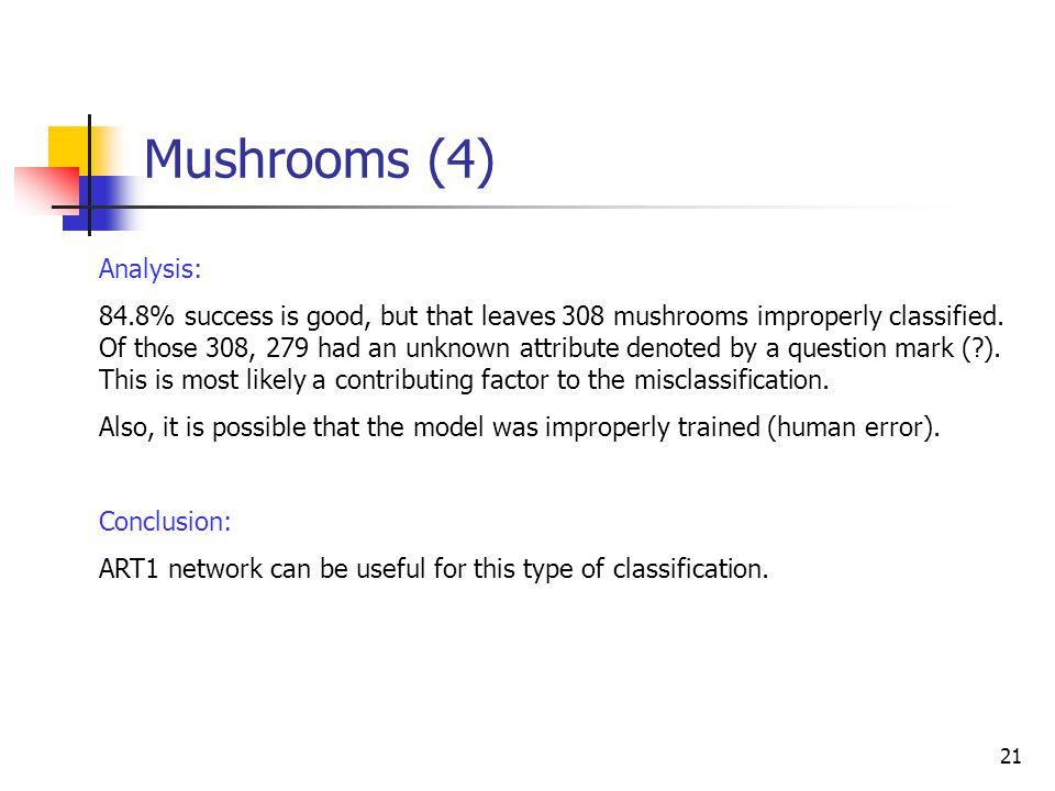 Mushrooms (4) Analysis: