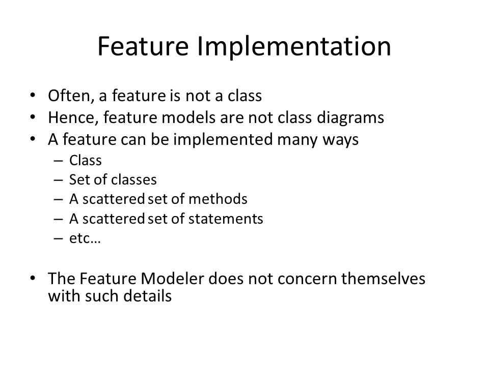 Feature Implementation