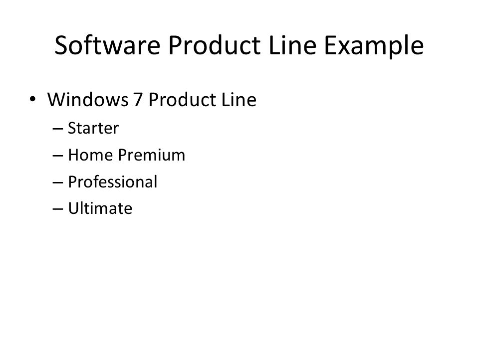 Software Product Line Example