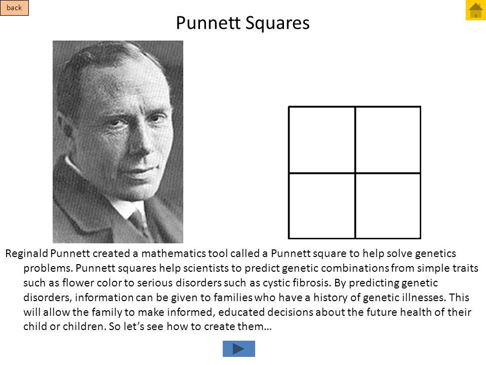 Punnett Squares back.