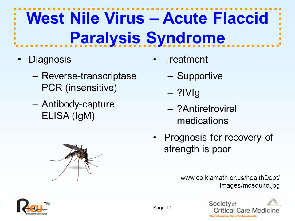 West Nile Virus – Acute Flaccid Paralysis Syndrome