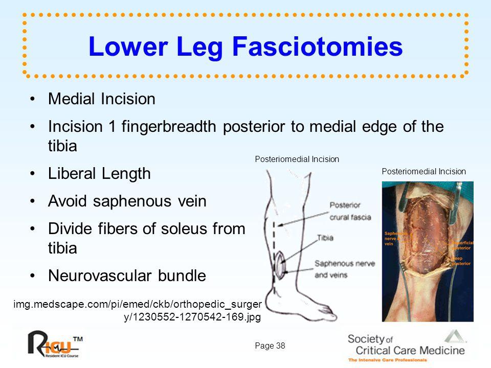 Lower Leg Fasciotomies