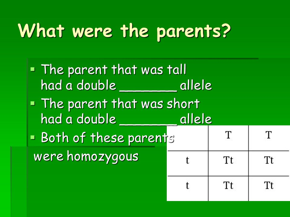 Terms ___________________ (TT) – Two alleles for a trait that are the same as a result of pure breeding.