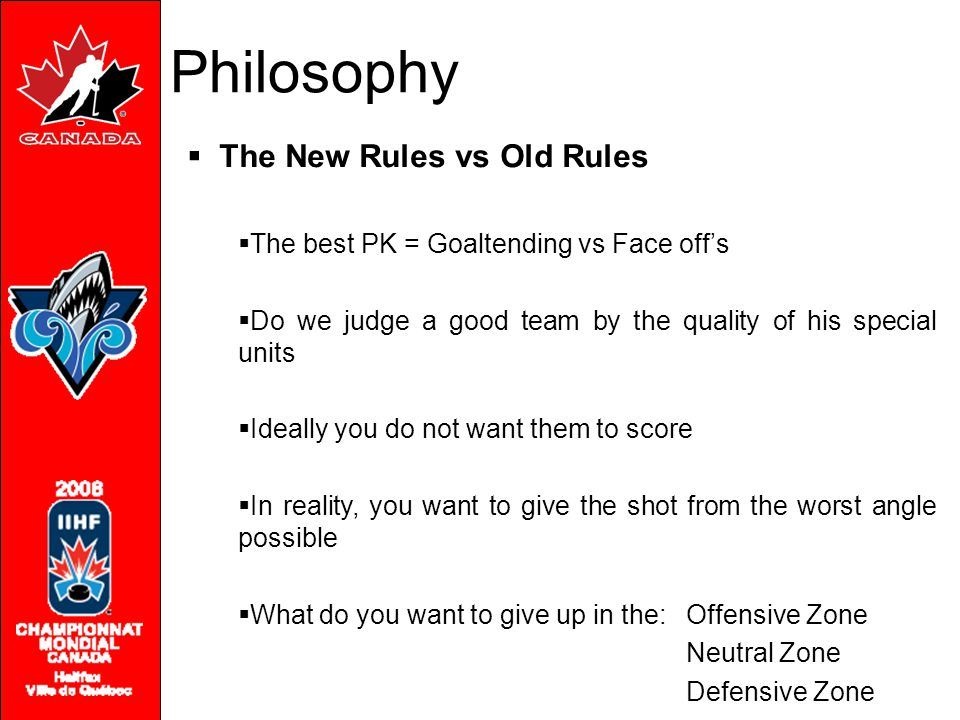Philosophy The New Rules vs Old Rules