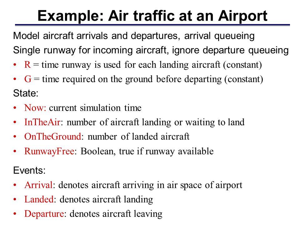 Example: Air traffic at an Airport