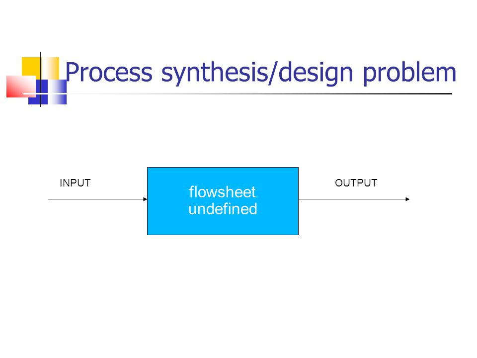 Process synthesis/design problem
