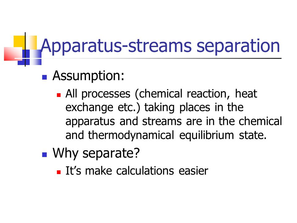 Apparatus-streams separation