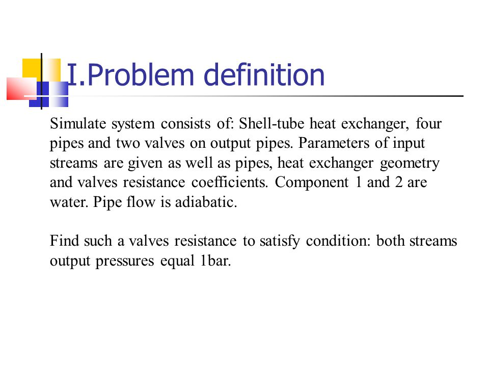 I.Problem definition