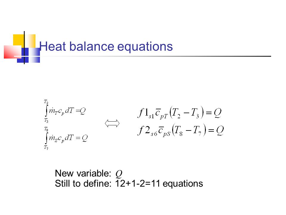 Heat balance equations