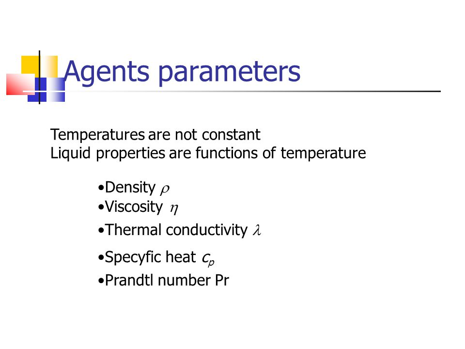 Agents parameters Temperatures are not constant