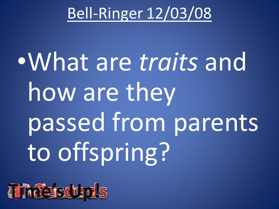 What are traits and how are they passed from parents to offspring